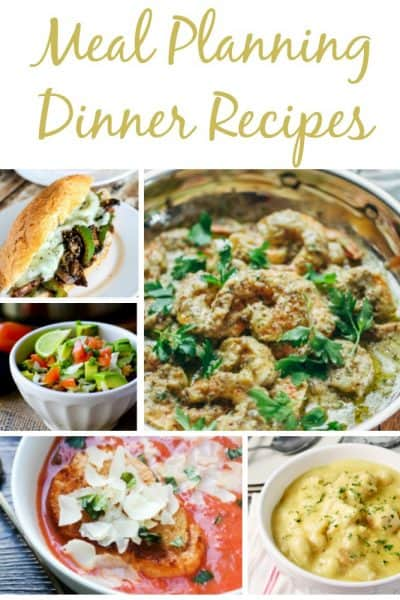 7 easy dinner recipes for quick and easy meal planning. Use this for weekly meal plans for busy families.