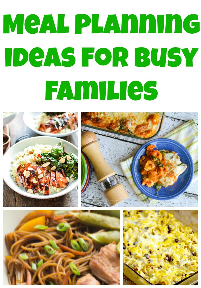 Meal Planning Ideas for Busy Families! Grab these free weekly meal plans for easy dinner recipes and ideas!