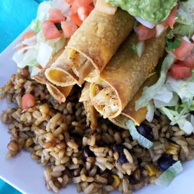 Kids Cooking Chicken Taquito Recipe with Santa Fe Rice!