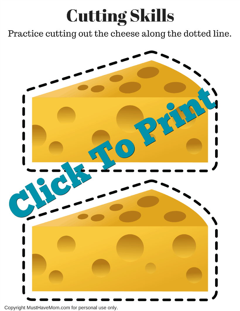 Free dairy farm activities for kids! Dairy farming counting printable, scissor skills cutting worksheet and make your own butter kids activity!