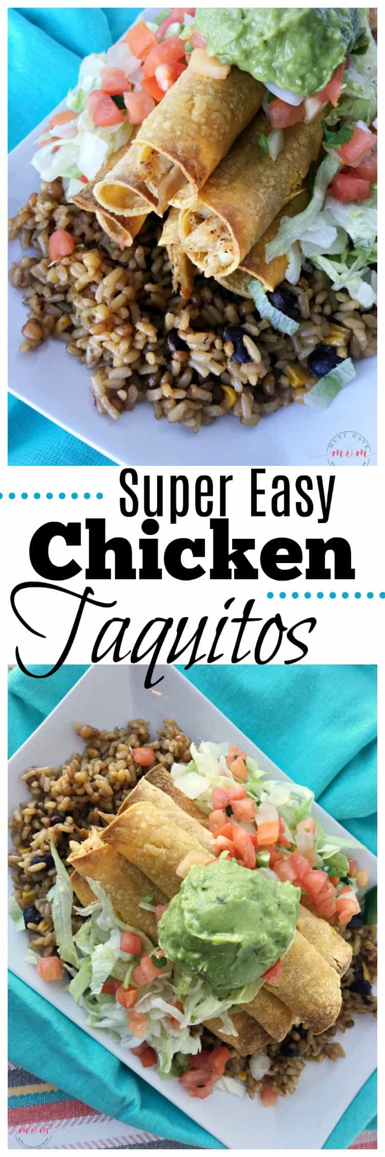 Super easy baked chicken taquito recipe! Fun kids cooking recipes and one of my favorite chicken recipes.