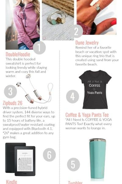 Unique gift ideas for women! Pick off this list for gifts she actually wants!