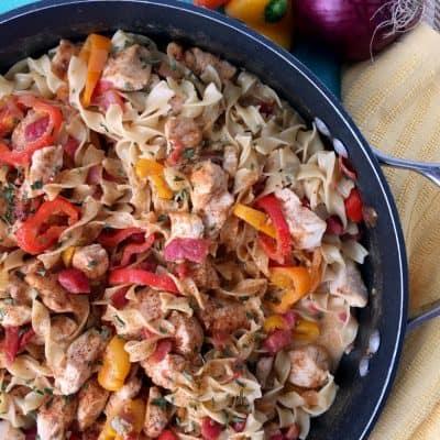 Chicken Fajita Noodle Skillet Recipe