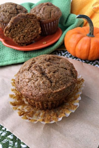 Try these healthy pumpkin muffins made with coconut oil and spices! One of my favorite pumpkin recipes in Fall!