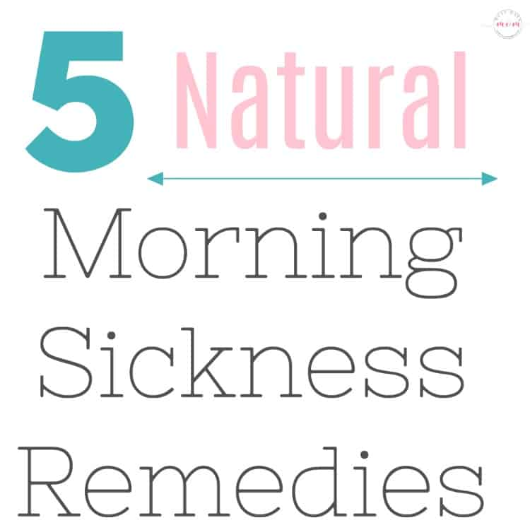 5 Natural Morning Sickness Remedies that actually work! Try these during pregnancy for morning sickness relief.