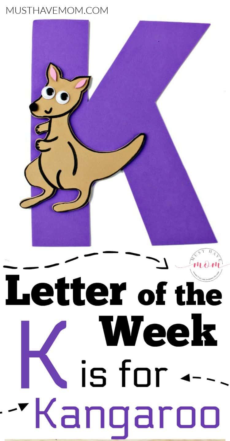 K is for Kangaroo alphabet craft