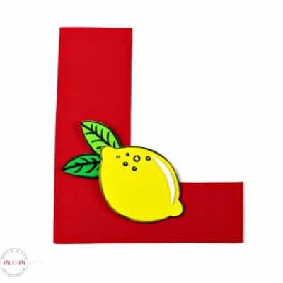 Letter of the Week Letter Craft! L is for Lemon