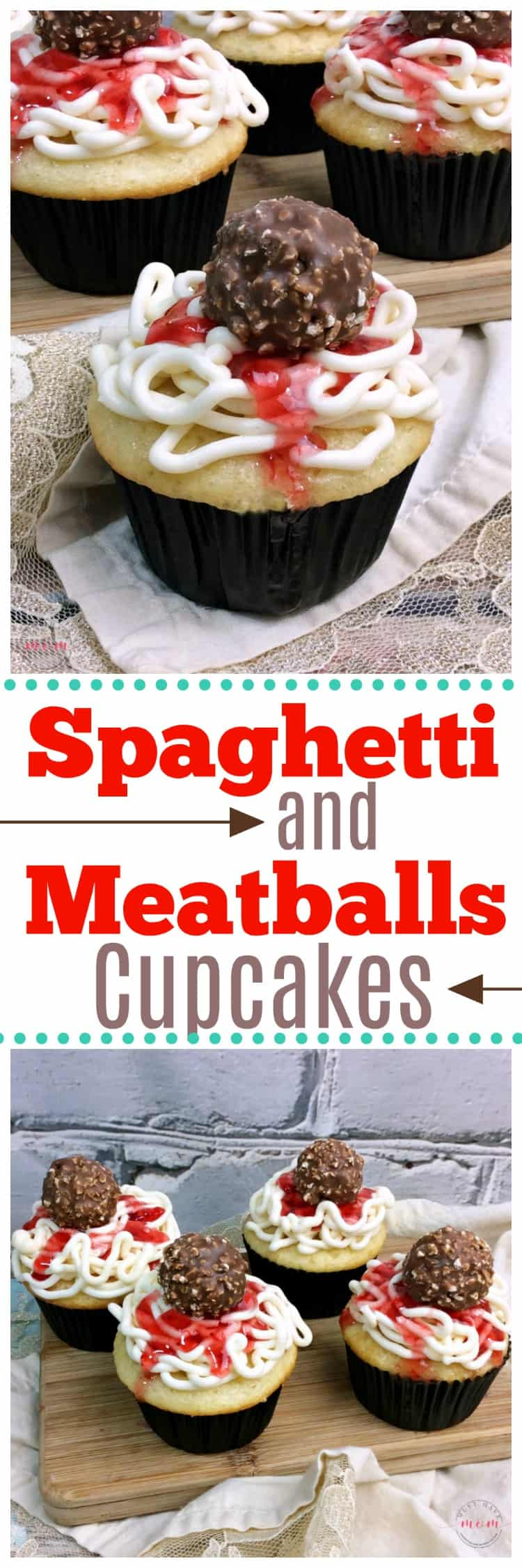 April Fool's Prank Spaghetti and Meatball Cupcakes Recipe! Easy and fun way to trick the kids!