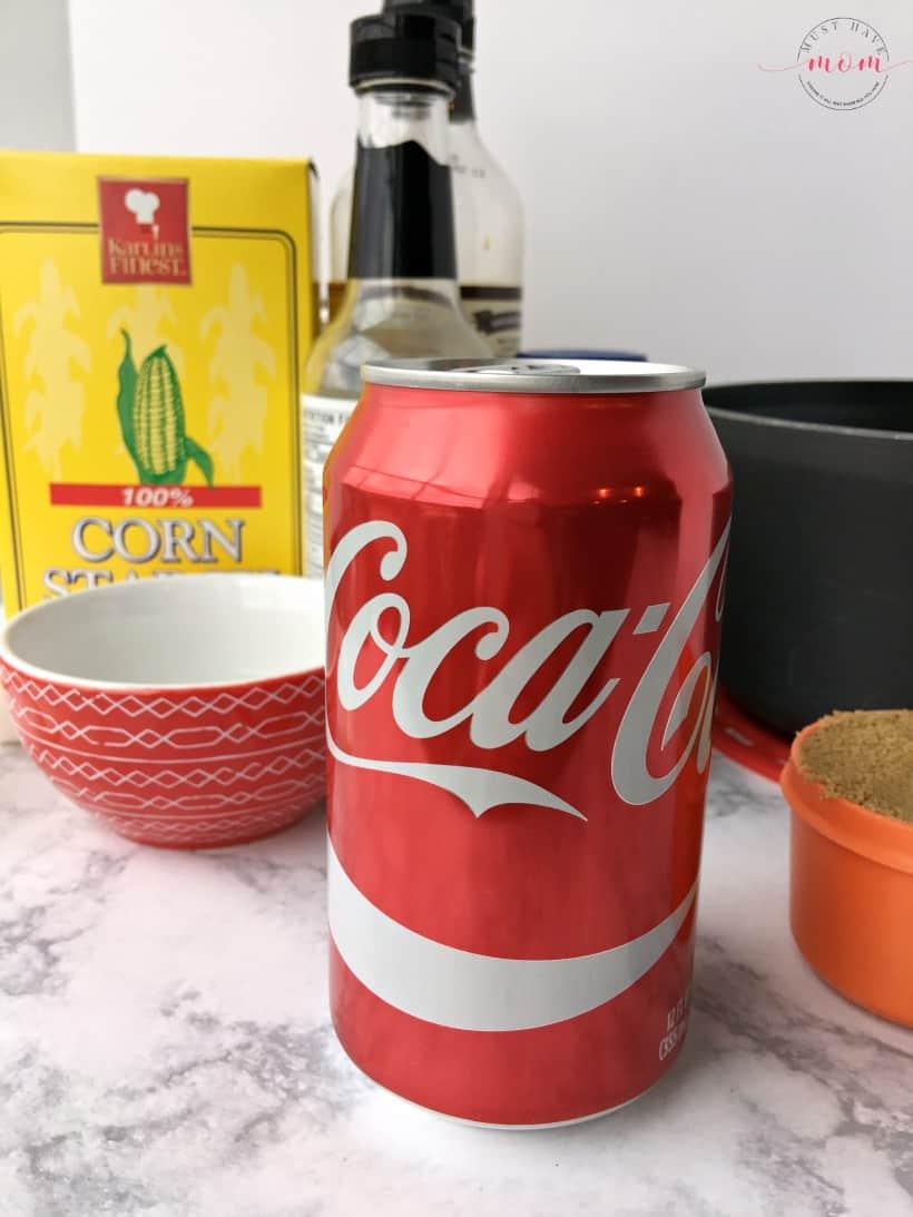 Easy baked sweet & spicy coke chicken recipe. Coke chicken wings appetizer recipe.