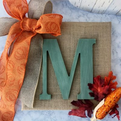 DIY Wooden Monogram Sign For Fall