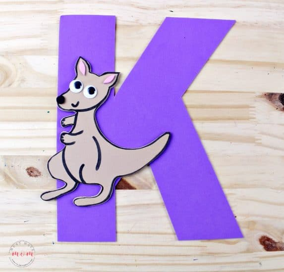 k is for kangaroo weekly letter craft idea - Must Have Mom