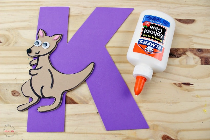 Weekly letter craft ideas! K is for kangaroo kids craft to learn letter recognition!