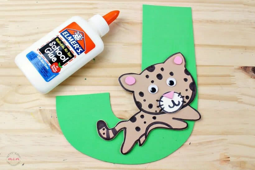 Weekly letter craft ideas! J is for jaguar kids craft to learn letter recognition!