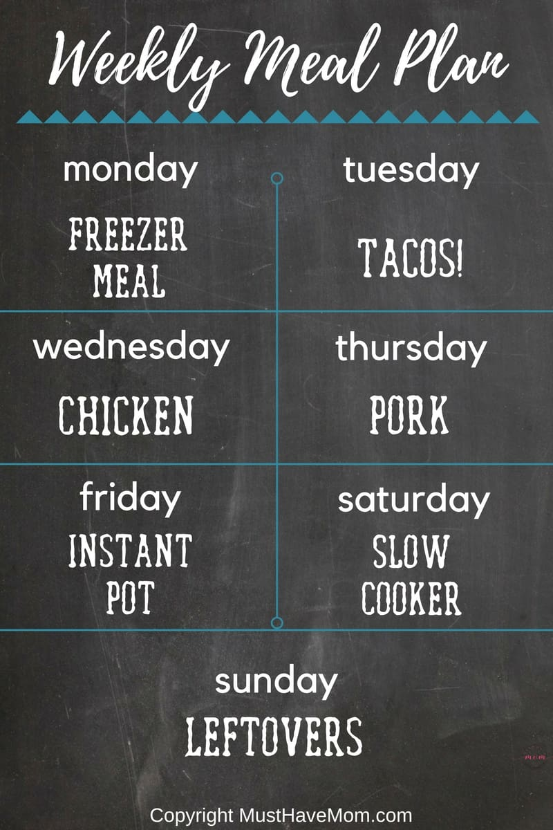 how to make my own meal plan