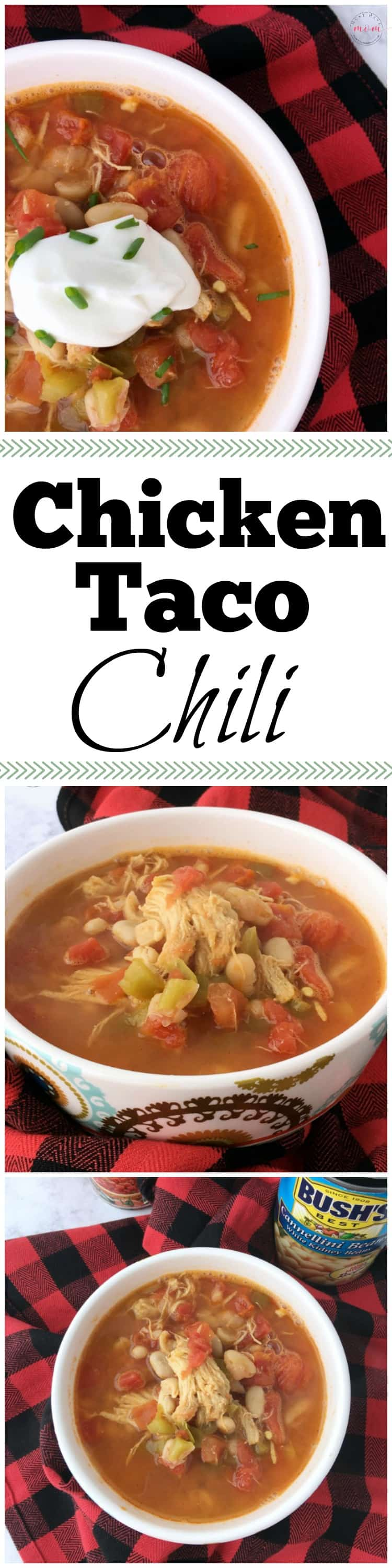 Chicken Taco Chili Recipe! Like chicken tacos in soup form! Easy dinner recipes