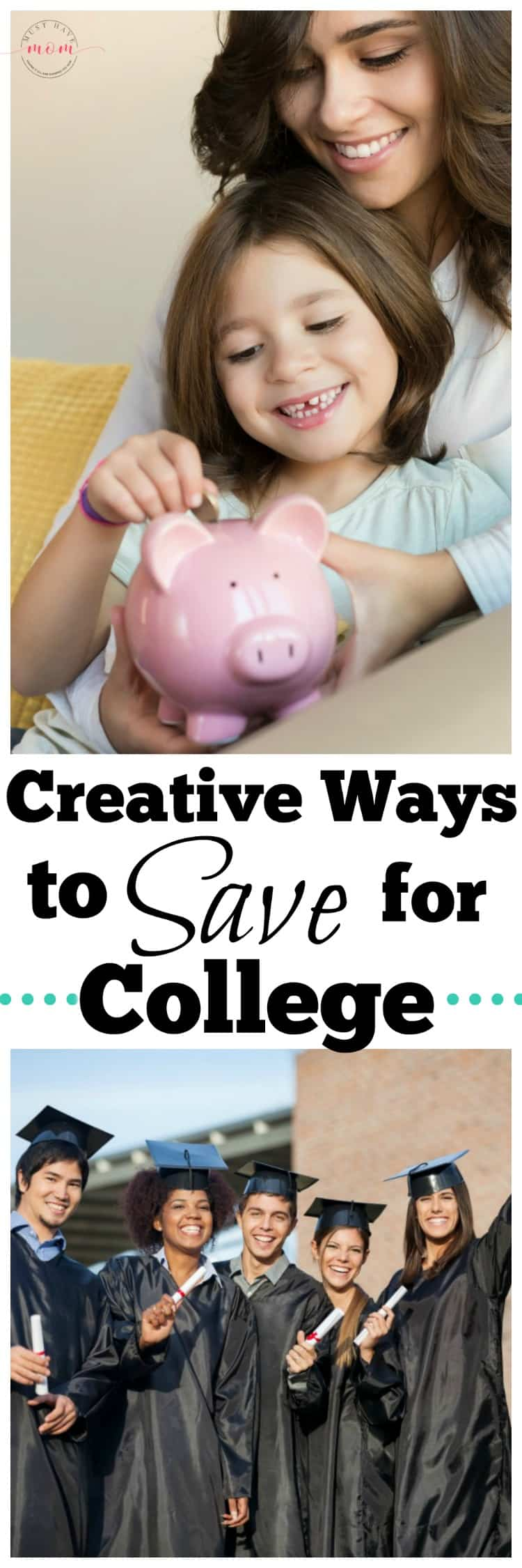 Creative ways to save for college! Try these genius ways to start saving for kids college funds now.