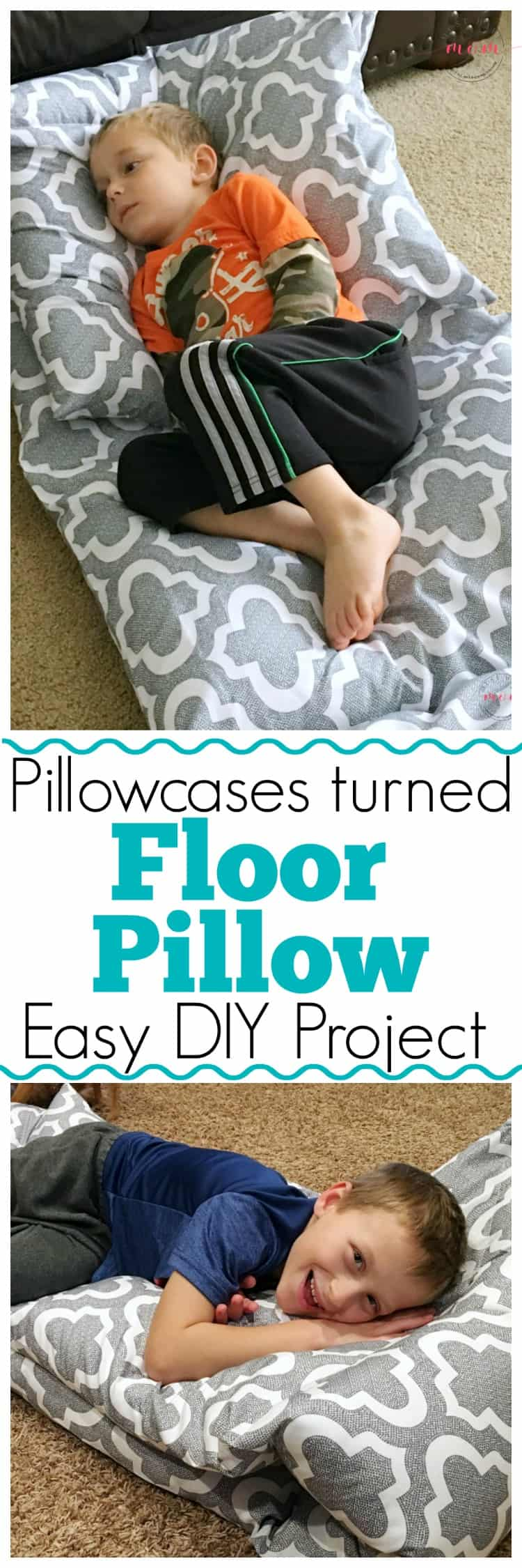 DIY Floor Pillows + Benefits of Carpet & A Giveaway! - Must Have Mom