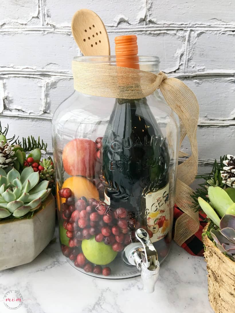 diy sangria & succulents gift basket ideas - must have mom
