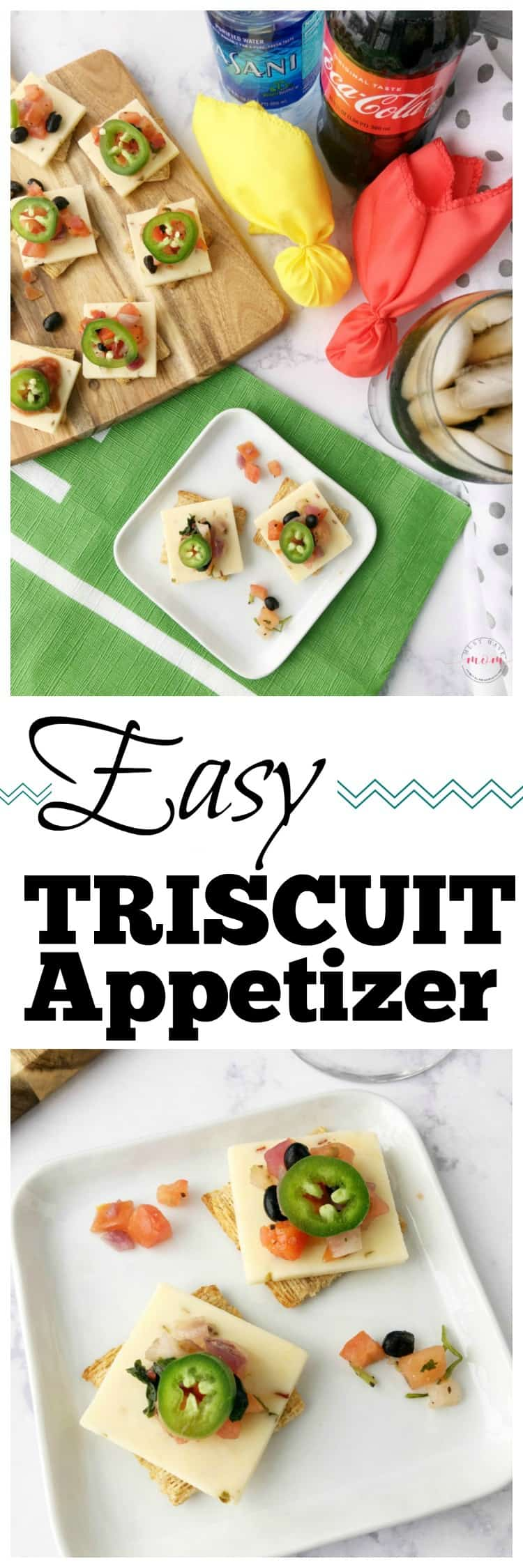 Easy Triscuit appetizer recipe for game day! Great football party food or tailgate food.