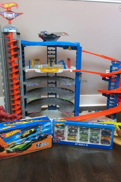 Top hot holiday toy pick! Hot Wheels Super Ultimate Garage and 50 Car Gift Pack!