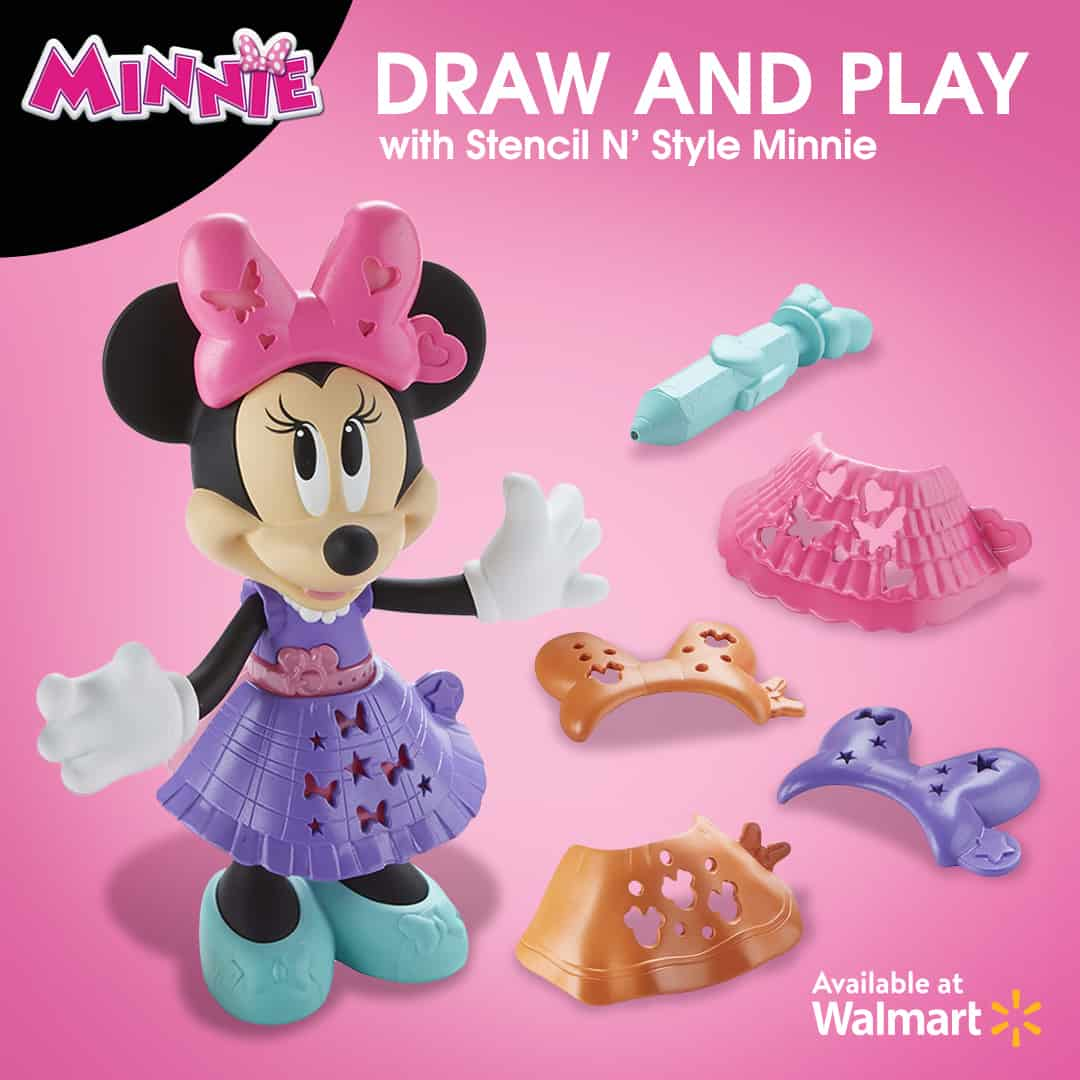 Holiday gift pick! Minnie Mouse Stencil N' Style Minnie for toddlers who love art!