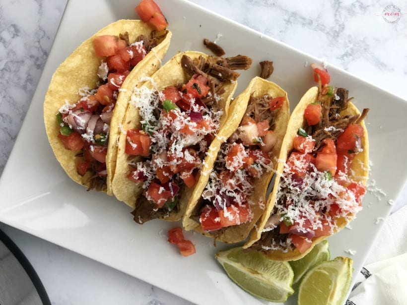 Instant Pot beef barbacoa tacos recipe! Great dinner recipe and so delicious! Easy Mexican!