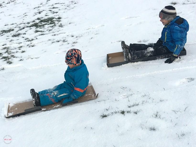 cardboard sleds diy