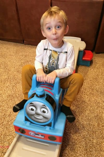Thomas the Train roller coaster for kids! Holiday Gift Guide top pick