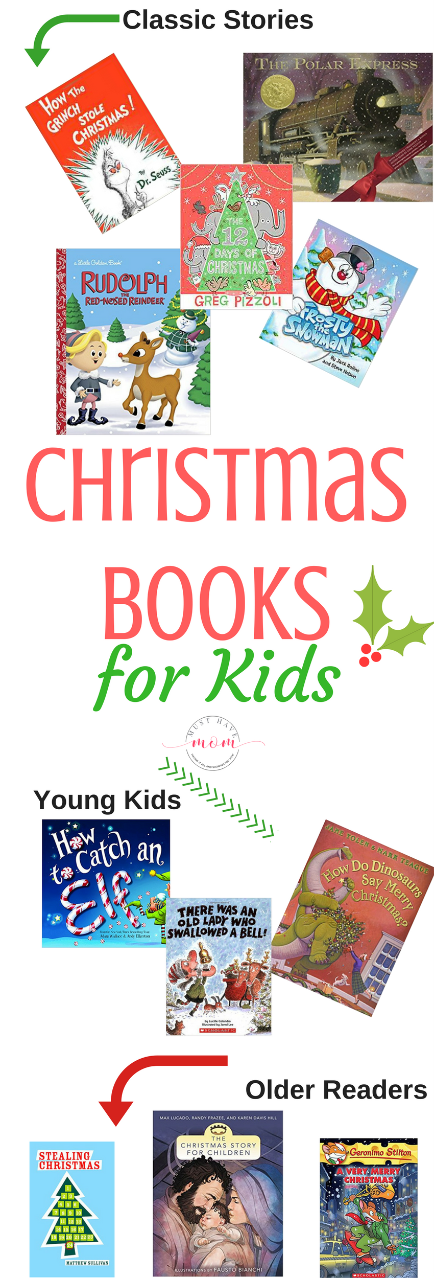 If you have a little one who loves reading, you are going to want to check out these great Christmas Books for Kids. Find some old favorites and discover some new ones.