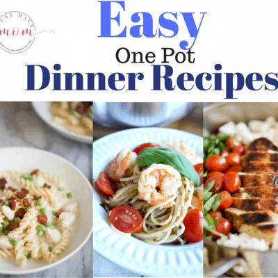 Easy One Pot Dinner Recipes