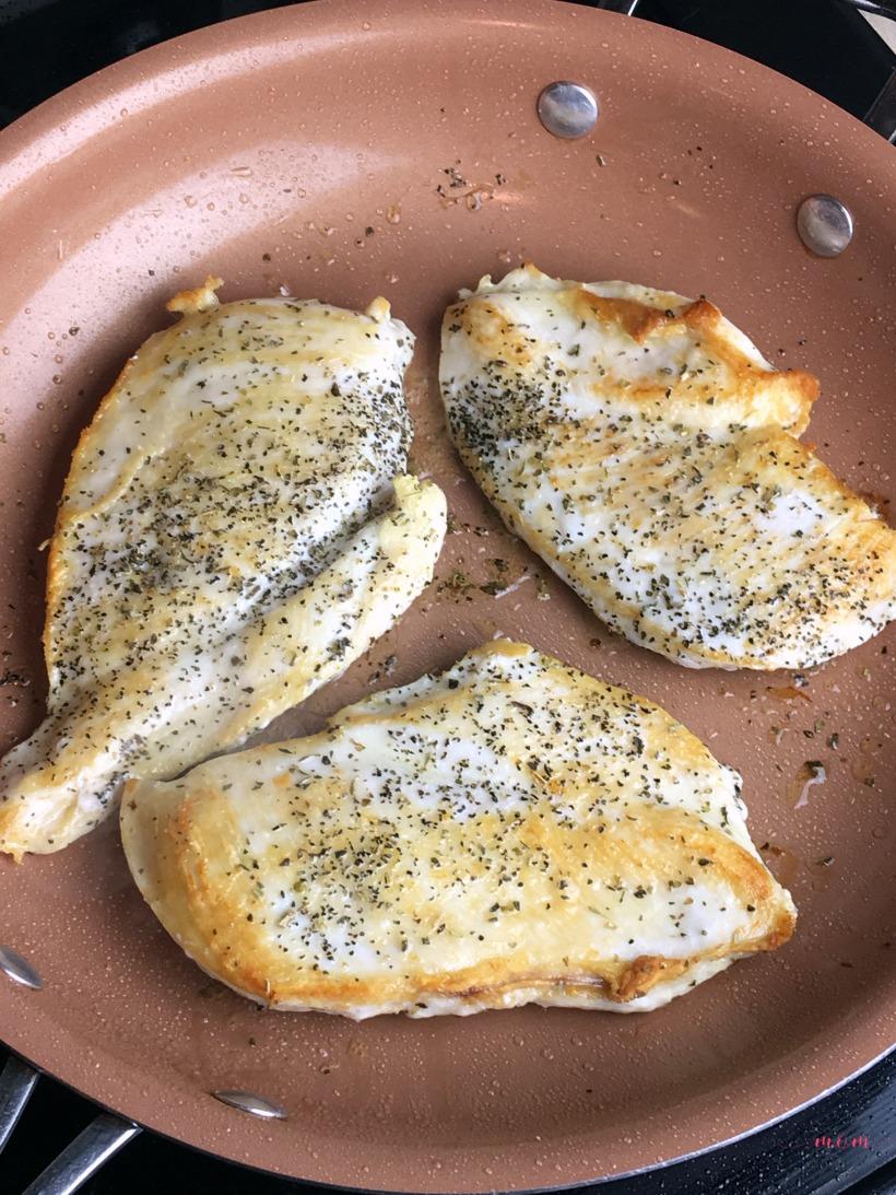 Quick and easy Bruschetta chicken dinner recipe! Italian food in under 30 minutes!
