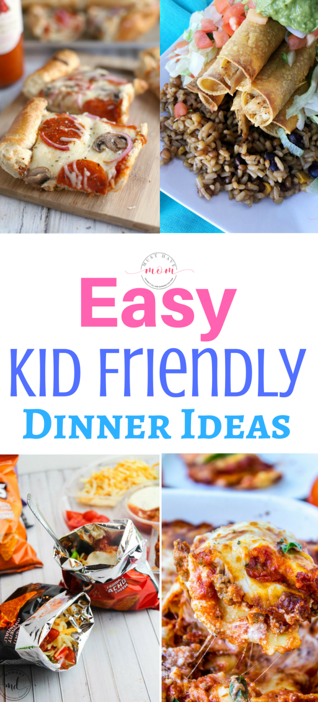 These Easy Kid Friendly Dinner Recipes will help you get dinner on the table in no time and are guaranteed to be a hit with the entire family.