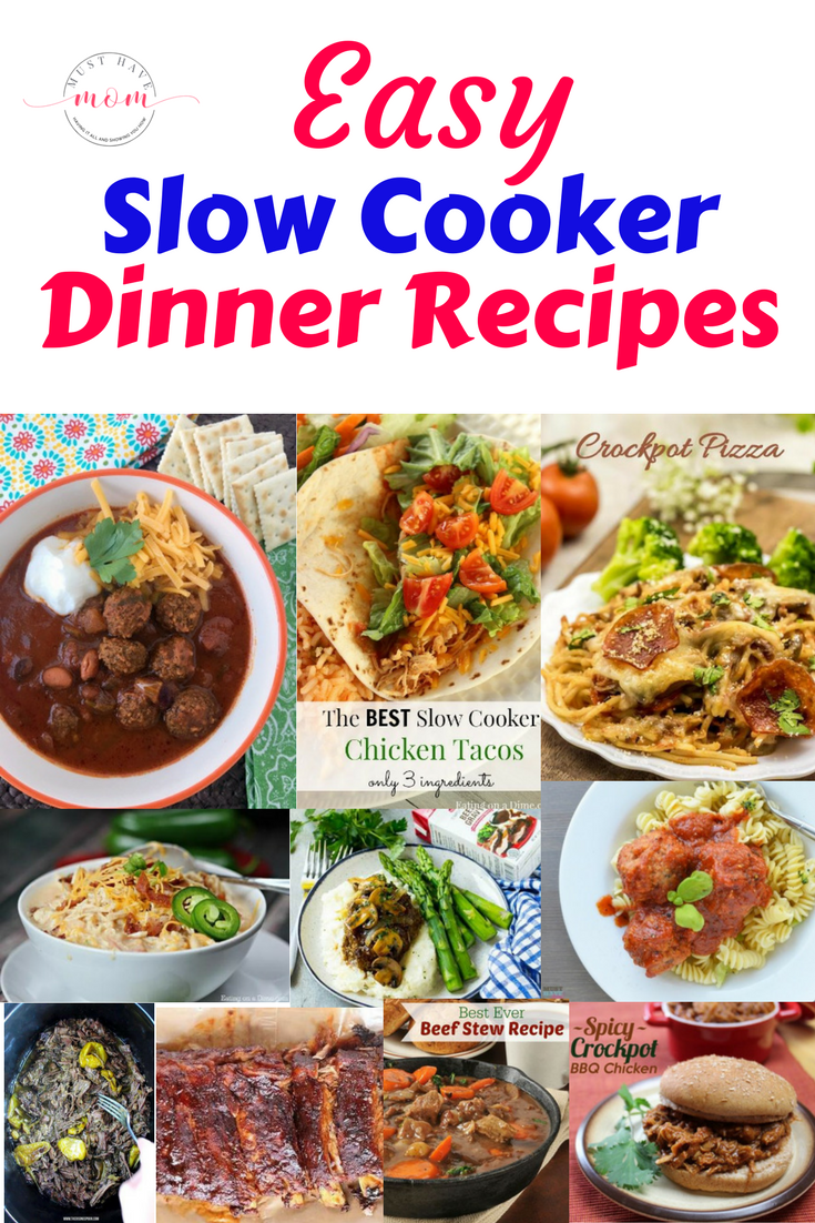 These Easy Slow Cooker Dinner Recipes make it so that at the end of a busy day, you can come home to a wonderful home cooked meal.