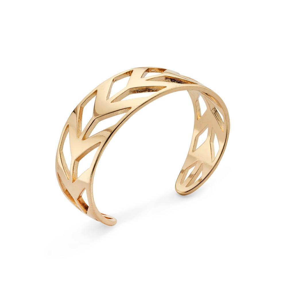 Road Trip Gold Cutout Bangle Bracelet