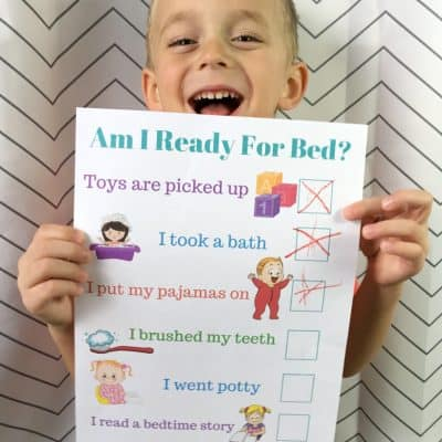 Make Bedtime EASY With This Bedtime Routine Chart + Simple Trick!
