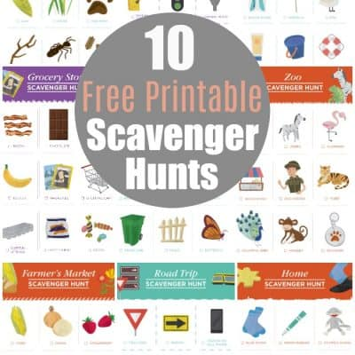 10 Free printable scavenger hunts for kids! These are so much fun! Awesome kids activities idea.