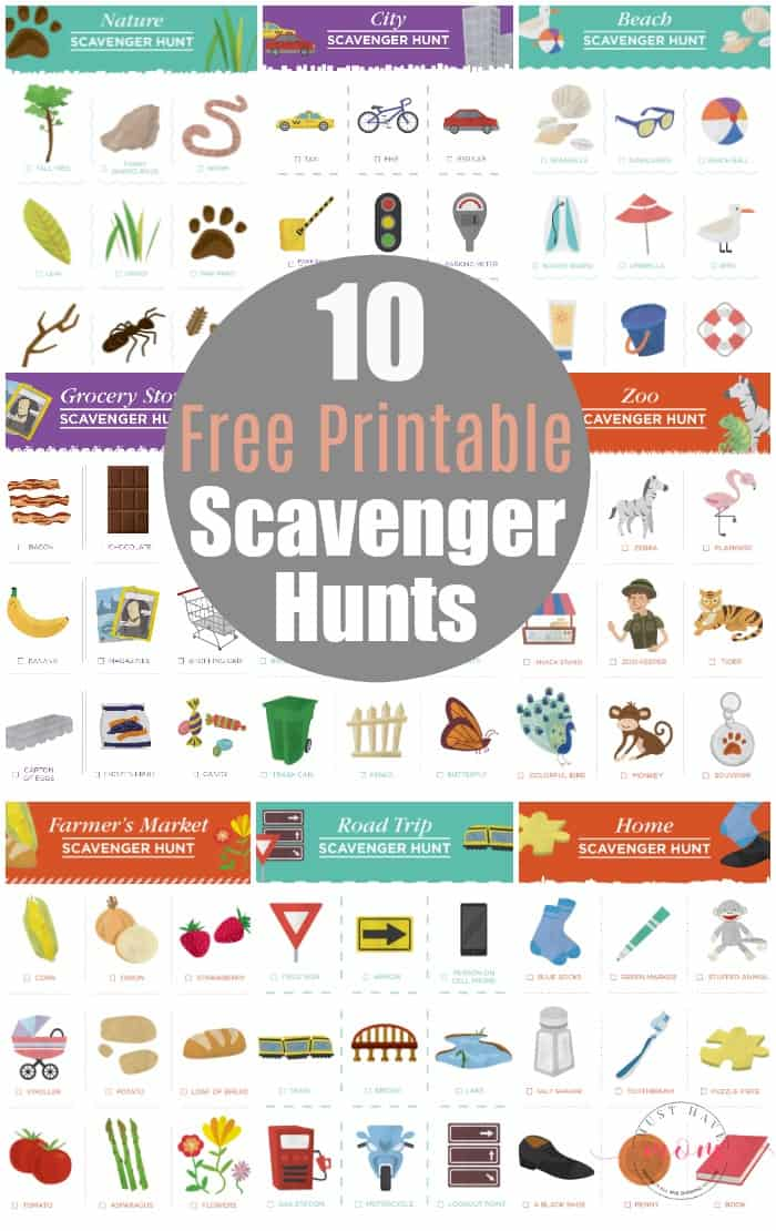 image regarding Zoo Scavenger Hunt Printable titled 10 No cost Scavenger Hunt Printables For Children - Should really Consist of Mother