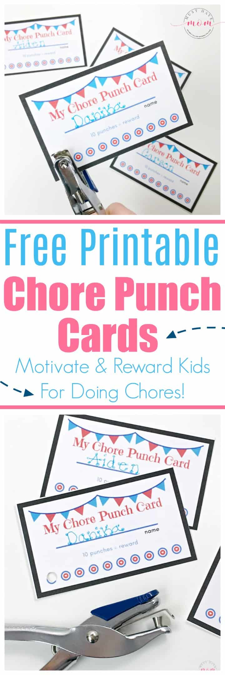 This is a graphic of Punchy Free Printable Punch Cards