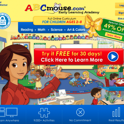 Get ABCmouse For 60% Off For A Limited Time!