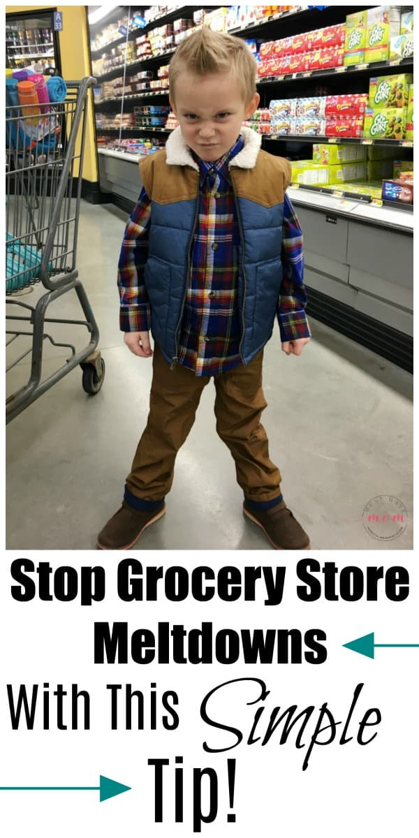 How to stop grocery store meltdowns with one simple tip! Toddler tantrums are not fun.