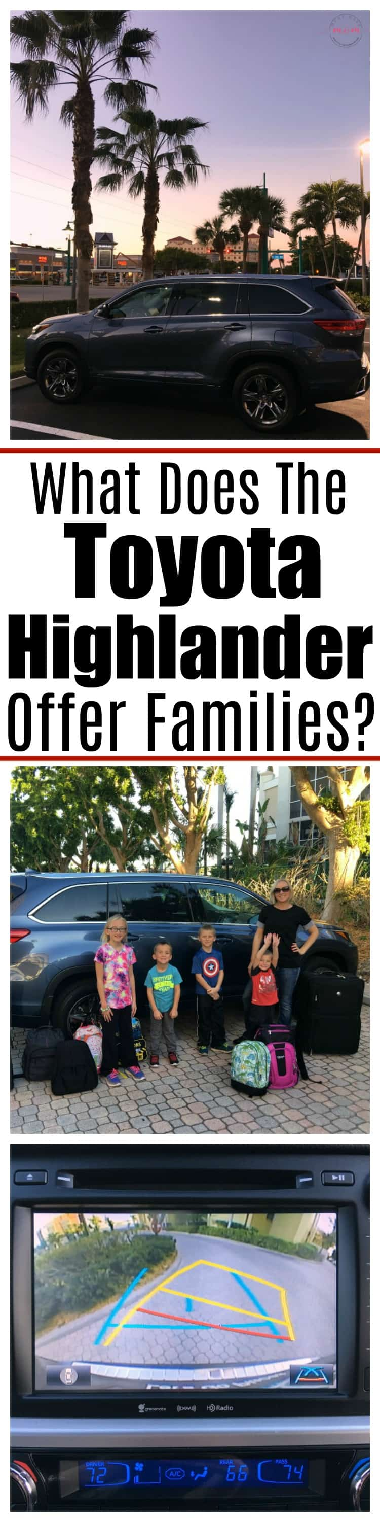 Favorite features of the Toyota Highlander SUV for families