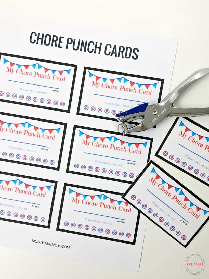 image regarding Free Printable Punch Cards titled cost-free printable chore playing cards - Ought to Incorporate Mother