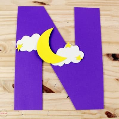 Weekly Letter Craft! N is for Night