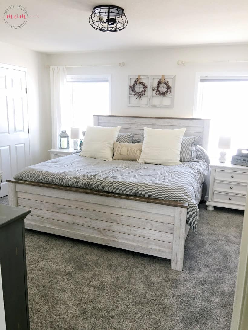 fixer upper bedroom after pic