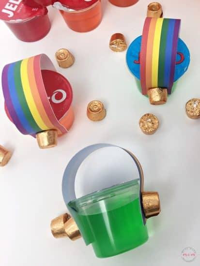 how to make rainbow jello cups