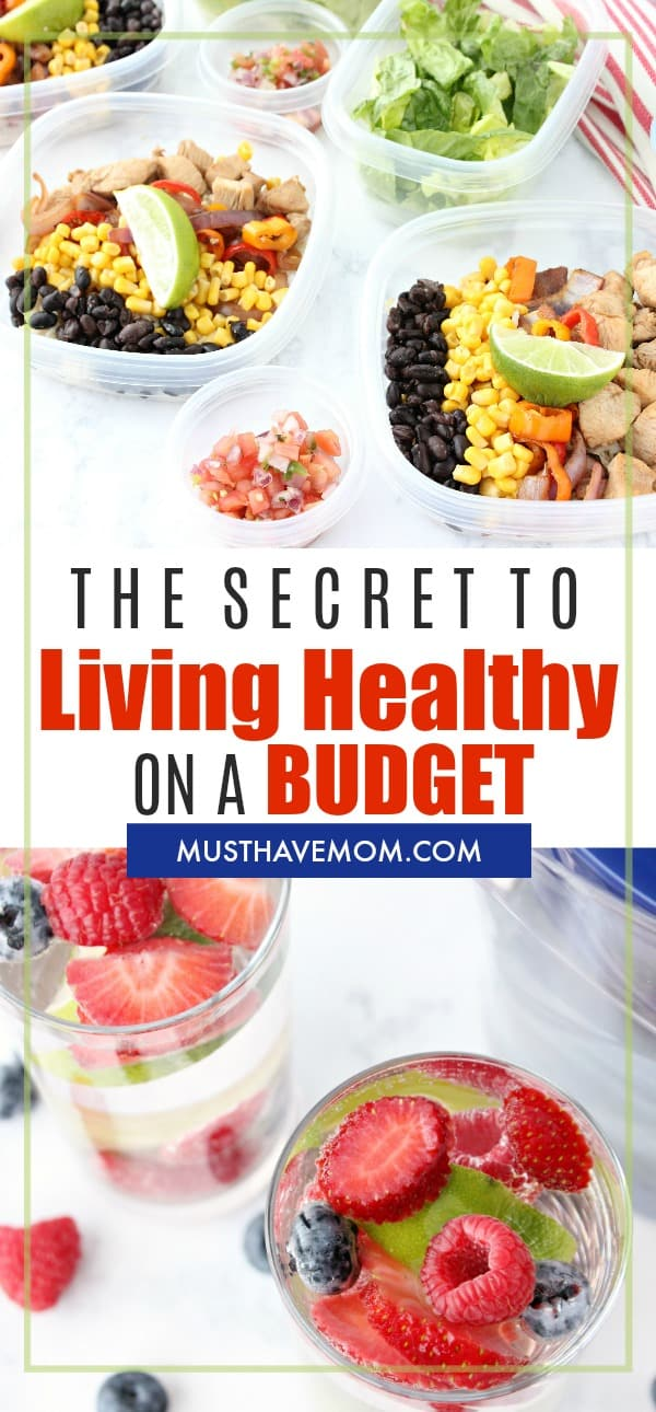 The secret to living healthy on a budget! Healthy habits that can be done on a dollar store budget!