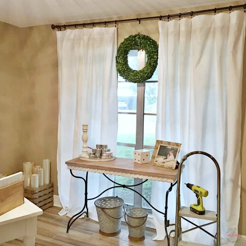 Living Room Curtains Cheap. Farmhouse living room DIY curtains now sew just  5 to make each of the farmhouse Style Cheap Curtains No Sew For Must