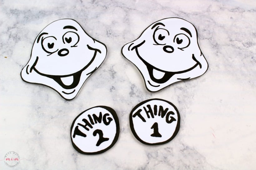 photo regarding Thing 1 and Thing 2 Logo Printable titled Point 1 Detail 2 Puppets! Dr Seuss Crafts + Absolutely free Printable