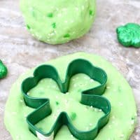 St. Patrick's Day Jello Playdough recipe! This cooked playdough recipe is for homemade playdough with cream of tartar.