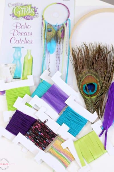 Creative Girls Club dreamcatcher kit contents